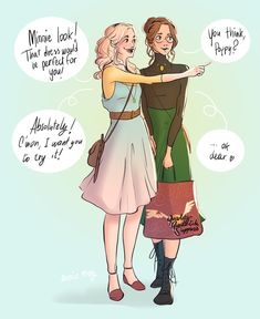 Young Minerva McGonagall and Poppy Pomfrey - Shopping in Diagon Alley