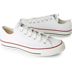 Converse All Star Ox low shoes ($41) ❤ liked on Polyvore featuring shoes, sneakers, converse, star sneakers, laced sneakers, lace up sneakers, low shoes and star shoes