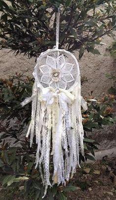 Boho Dreamcatcher Lace Dreamcatcher by VintageShopCreations