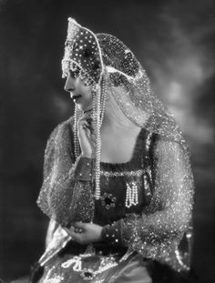 Russian costume. Madame Olga Alexeeva by Bassano, 1925. She was a Russian dancer.