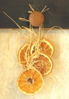 dried fruit ornament. Such a great idea! from honeyteathyme