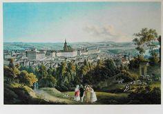 VincencMorstadt, Hradčany od jihozápadu, 1830