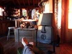 tiny rustic wood stove