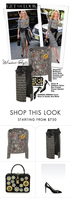 """""""get the look: kate bosworth in mcqueen"""" by esterp ❤ liked on Polyvore featuring Alexander McQueen, Dolce&Gabbana, Giorgio Armani, women's clothing, women's fashion, women, female, woman, misses and juniors"""