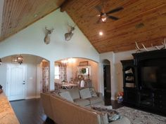 If you are looking for a gorgeous custom home that says Wow you have found it!! Pura Vida is a gated subdivision with beautiful oak trees. This 3/2.5 home with 1.54 acres has a beautiful gourmet kitchen with Thermador commercial appliances beautiful hardwood floors, with pine vaulted ceilings in the living room, granite, quartz and silestone counter tops. Home is located in Industrail ISD. There are too many extra amenities to name, you must see this beautiful house for yourself.