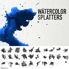 Watercolor splash of high-definition, Yin ps brush ink effec_Download free vector,3d model,Icon--youtoart.com