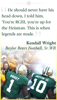 My favorite Baylor players! Robert Griffin III and Kendall Wright :)