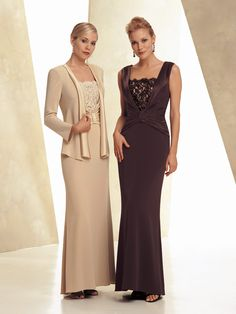 I like it without the jacket.  Very pretty in both colors.  We can order this from Maya's Palace here in Tucson.  Montage by Mon Cheri | Evening Gowns|style #25901