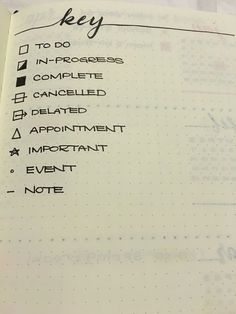 Bullet Journal® key ideas