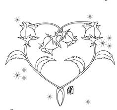 vintage valentine coloring sheets rose coloring pages valentines day coloring pages roses heart shape - Rose Coloring Pages Teenagers