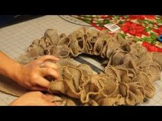 This wreath is easy to get and requires just three things: Burlap, Wire Frame, Zip Ties or Floral Wire. It's another look with the same 6-inch burlap we used...