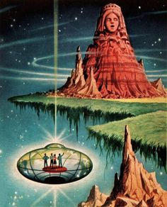 Alex Schomburg - The Time Axis, 1965. / The Science Fiction Gallery