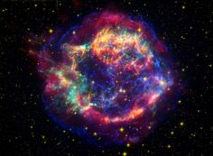 Located 10,000 light-years away in the northern constellation Cassiopeia, Cassiopeia A is the remnant of a once massive star that died in a violent supernova explosion 325 years ago. It consists of a dead star, called a neutron star, and a surrounding shell of material that was blasted off as the star died.