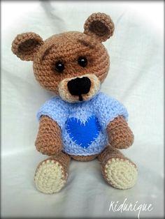 Crochet Teddy Bear Toy Amigurumi Tobby Lovely Bear Bear Plush Toy