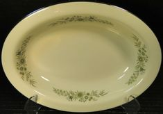 A beautiful Wedgwood Westbury oval Vegetable Serving Bowl. Classic Wedgwood Pattern with Greenery and a raised Floral design.