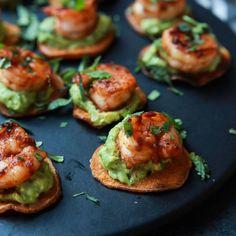 Cajun Shrimp Guacamole Bites  - Redbook.com