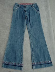 Girls Gymboree Sz 12 Jeans 26 Waist x 27 Inseam EUC - $15.95