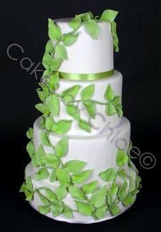 Green leaves- stunning cake