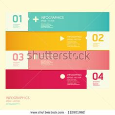 stock vector : Modern soft color Design template  / can be used for infographics / numbered banners / horizontal cutout lines / graphic or website layout vector                                                                                                                                                      Mais
