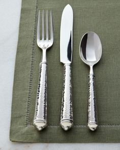 Maison luxe 18/10 'country hammer' 45-piece flatware set