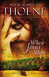 """WHEN JESUS WEPT (# 1 THE JERUSALEM CHRONICLES) by BODIE THOENE/BROCK THOENE. """"Lazarus occupies a surprising position in the Gospel accounts. Widely known as the man Jesus raised from the dead, his story is actually much broader and richer than that. Available from Available from Faith4U Book and Giftshop, Secunda, SA"""