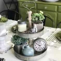 Farmhouse Two Tiered Stand