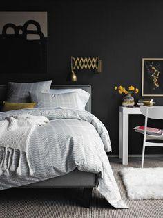 Indescribable Master bedroom closet remodel,Bedroom remodel grey decor and Teenage bedroom remodel fun. Charcoal Grey Bedrooms, Gray Bedroom, Bedroom Colors, Modern Bedroom, Master Bedroom, Bedroom Wall, Black Bedrooms, Gothic Bedroom, Bedroom Office