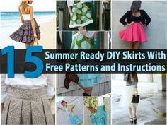 Don't you just love free patterns? When those patterns allow you to create an entire new wardrobe, it's great. We have collected a lot of skirt patterns for you. With summer in full swing, it just seemed to be the right time to begin working on a few short and cute skirts...