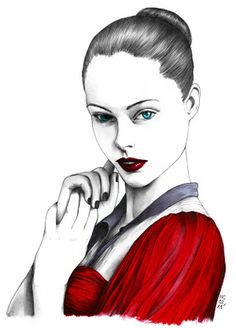 #fashion illustration Hélène Cayre
