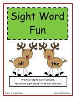 Kindergarten Sight Words Activity