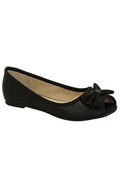 BOW ACCENT FLATS- Black