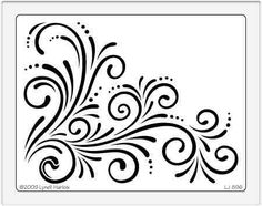 embossing patterns | Dreamweaver Embossing Stencil - New Large Corner Flourish - Samuel ...