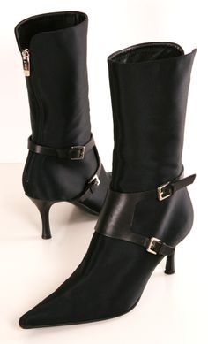 SERGIO ROSSI BOOTS - LOVE the pointy toe and kitten heel! I live in the wrong climate for these!  :(