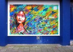 Andrea Michaelsson, aka Btoy, is a street artist better from Barcelona, Spain. Btoy prefers to place street art and posters in old places. Murals Street Art, Graffiti Art, Amsterdam, Reverse Graffiti, Identity, Amazing Street Art, Stencil Art, Land Art, Art Festival