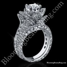 [ Large Hand Engraved Blooming Beauty Wedding Ring Set Bbren Set 22 ] - Best Free Home Design Idea & Inspiration Halo Engagement Rings, Antique Engagement Rings, Designer Engagement Rings, Engagement Ring Settings, Antique Rings, Cool Wedding Rings, Wedding Band, Just In Case, Art Nouveau