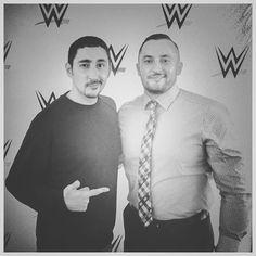 With my bro @ekofreezy - incredibly nice guy who loves WWE. #WWELive #WWEMannheim