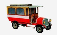 Laurin & Klement Autobus Vintage Paper Car Vehicle Paper Model