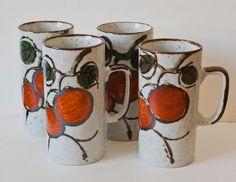Otagiri Orange Design Vintage Japanese Stoneware Dahlia picked this one