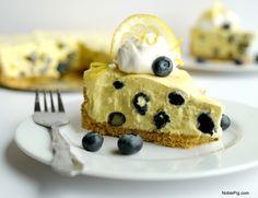 No Bake Creamy Lemon-Blueberry Pie