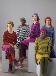 Basics-striped tops with skirts & stockings! Bright colours!