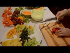 Little Roses and easy leaves in Watermelon   By Chef NAMTARN. - YouTube