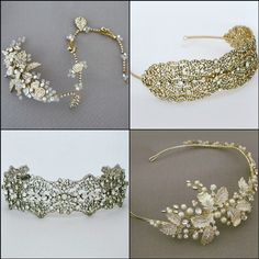 """Justine M Couture bridal hair accessories. Boho Chic or vintage pieces with """"Old World Charm"""" a lovely collection at perfectdetails.com. https://perfectdetails.com/Justine-M-Couture.htm"""