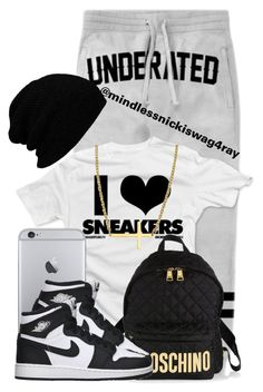 """""""Underrated Sneakers."""" by mindlessnickiswag4ray ❤ liked on Polyvore featuring Concord, Moschino, Retrò and Reeds Jewelers"""