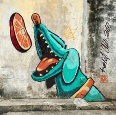 Street Art by Kenji Chai, located in Penang