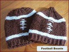 loom knit beanie | Football beanie on a knitting loom ... | Crafts of AWESOMENESS!!