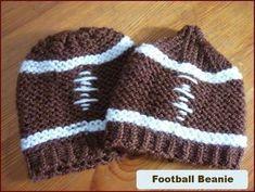 loom knit beanie   Football beanie on a knitting loom ...   Crafts of AWESOMENESS!!