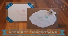 Weihnachtskarte Stampin Up, Merry, Christmas Cards, Stamping Up