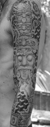 Mayan Sleeve Tattoo Done In Arambol Goa 09 23 Tatto Fotolog