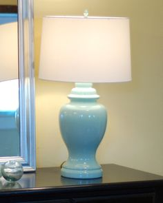love this color....to redo those ugly crystal lamps i have sitting in the garage…