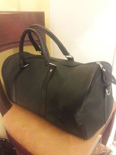 64119b16a24e Black Leather Duffel for Sale in Stone Mountain
